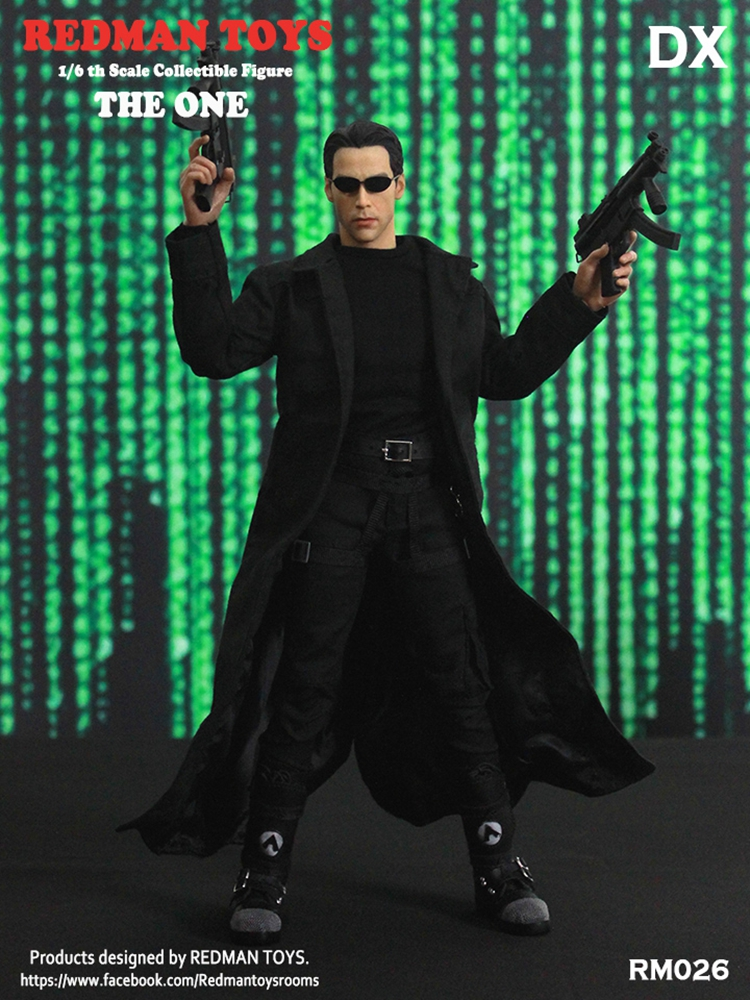 Neo the One 1//6 Scale Black Trench Coat Redman Action figures