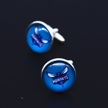 Factory Retail NBA Charlotte Hornets Basketball Man Shirt Cufflinks for Party cuff-link