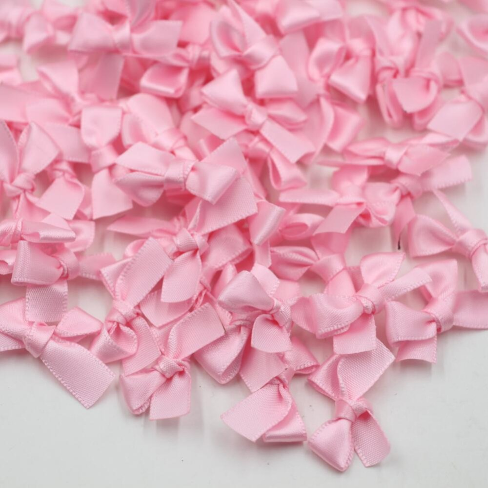 200pcs Pink Bows Embellishments DIY Invitations Card Making & Scrapbooking Gift Box Ornaments(China)