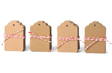 100pcs/lot 3*5cm Blank Kraft Hang Paper Gift Tags Wedding Party Favors Label Price Gift Card