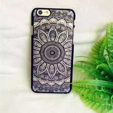 Brand New Beautiful Floral Henna Paisley Mandala Palace Flower Phone Case For iPhone 7 7Plus 5S 6 6S Plus Matter Hard back Cover
