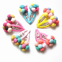 10 Pcs/lot (5 pairs) Free shipping Kids Hairpins Girl Floral Hair Clips Cute hair Accessories(China)
