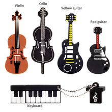 Cute USB Flash Drive Musical Instruments Pen Drive 64GB/32GB/16GB/8GB/4GB 2.0 Lovely Gift Key USB Computer Memory Stick Pendrive