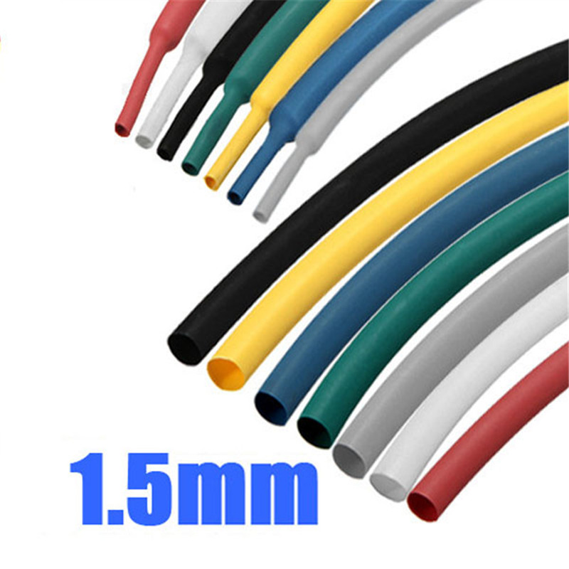 New Arrvial 1/16 1mm 1m 7Color Polyolefin 2:1 Heat Shrink Wire Wrap Cable Sleeve Tubes Power Tool Accessories<br><br>Aliexpress