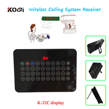 Wireless Display Host Receiver K-32C show 32calling groups number one time Show different service type via different color light