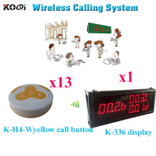 Sound System Wireless Paging Waiter Service Personal Usage Wireless Calling Equipment( 1pcs display+ 13pcs call button)