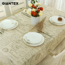 GIANTEX European Letters Decorative Table Cloth Cotton Linen Lace Tablecloth Dining Table Cover For Kitchen Home Decor U0998