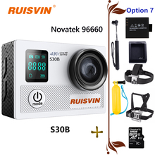 "2017 New RUISVIN S30B Action Camera WIFI 20MP Full HD 1080P 60fps 2.0"" LCD Diving 30M Waterproof Sports Camera Mini Cam"