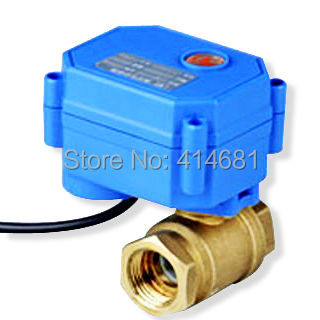 1/2 electric valve 2 port, DC3-6V electric ball valve 2 wires controlled, DN15 electric motorized valve brass<br><br>Aliexpress