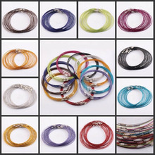 10 Pcs 1mm Wire Cable Steel Chain Stainless Charms Cords Necklace 45cm
