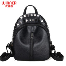WINNER fashion women backpacks small style backpack ladies travel bags women pu leather bags top-handle school backpacks