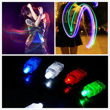 Finger Light Up Ring Flashing Laser LED Rave Party Favors Glow Beams 4 Pcs Set