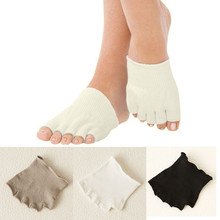New Socks for Girls Fitness Sports 1 Pair Ladies Compression Toe Separating Socks Heel Pain Relief Women Socks Sox Feb17(China)