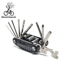 New Mountainpeak 15 in 1 combination repair kit mountain bike repair functional tool fold combination screwdriver kit(China)