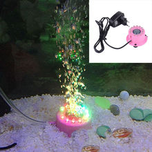 Multi-color Aquarium Red Fish Tank Air Curtain Bubble Stone Disk 12PCS Multi-color LED Light Bubble Lamp(China)