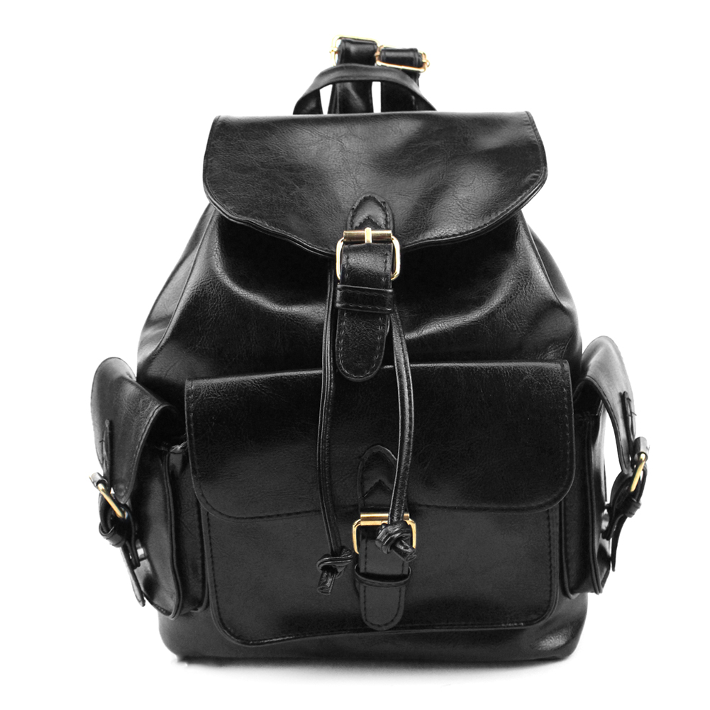 Mojoyce Famous Brand Backpack Women Backpacks Solid Vintage Girls School Bags for Girls Soft Black PU Leather Women Backpack<br><br>Aliexpress