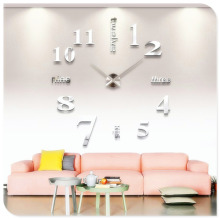 Hot Sales Factory Price! Modern DIY Large Wall Clock 3D Mirror Surface Sticker Home Decor Art Design