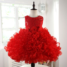 Girls princess Dress Children Fancy Chlidren Clothes Girls Kids Formal Flower Evening Red pink Tutu Dress 3 11 10 12 Years Old