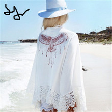 2017 New Eagle Printed Beach Cover Ups
