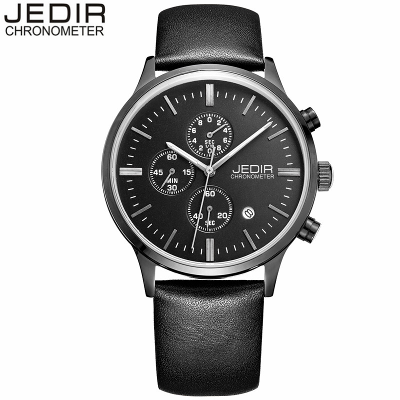 relogio masculino JEDIR Luxury Brand Mens Fashion Casual Sports Watches Chronograph Clock Leather Quartz Watch reloj hombre<br><br>Aliexpress