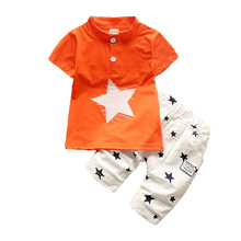 BibiCola Summer Baby Boys clothing sets Gentleman Style Kids Lovely Star t-shirt+pants 2 Pcs Infant Casual Suits Children Sets