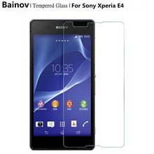 Bainov 9H Screen Protector Explosion-Proof Tempered Glass Film For Sony Xperia E4 E2105 E2114 E2115 E2124 dual 5.0