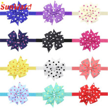 Hot 12Colors Bowknot Lovely Headbands Photography Props girl hair accessories Girl headband cute hair band newborn WSep6