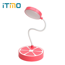ITimo Eye Protection Book Reading Light USB Rechargeable LED Desk Lamps 3 Modes Study Table Lamp Adjustable Orange Shaped(China)