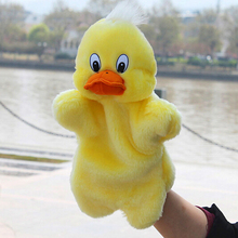 Lovely Duck Toys Holiday Animal Puppet Kids Cute Soft Hand Puppet Plush Toy Gift