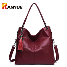Buy RANYUE Women Shoulder Bag Genuinue Leather Handbags Large Capacity Casual Tote Bag Black Female Messenger Bags Bolsas Femininas for $32.12 in AliExpress store