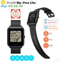 "Original Xiaomi Huami Amazfit Bip BIT PACE Lite Youth Smart Watch Mi Fit Reflection Color Screen 1.28"" Baro IP68 Waterproof GPS(China)"