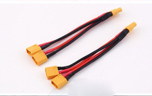 Free shipping PARALLEL cable ,T-Plug and XT60  light weight 16AWG Silicon cable for RC lipo battery for Big battery  wiring