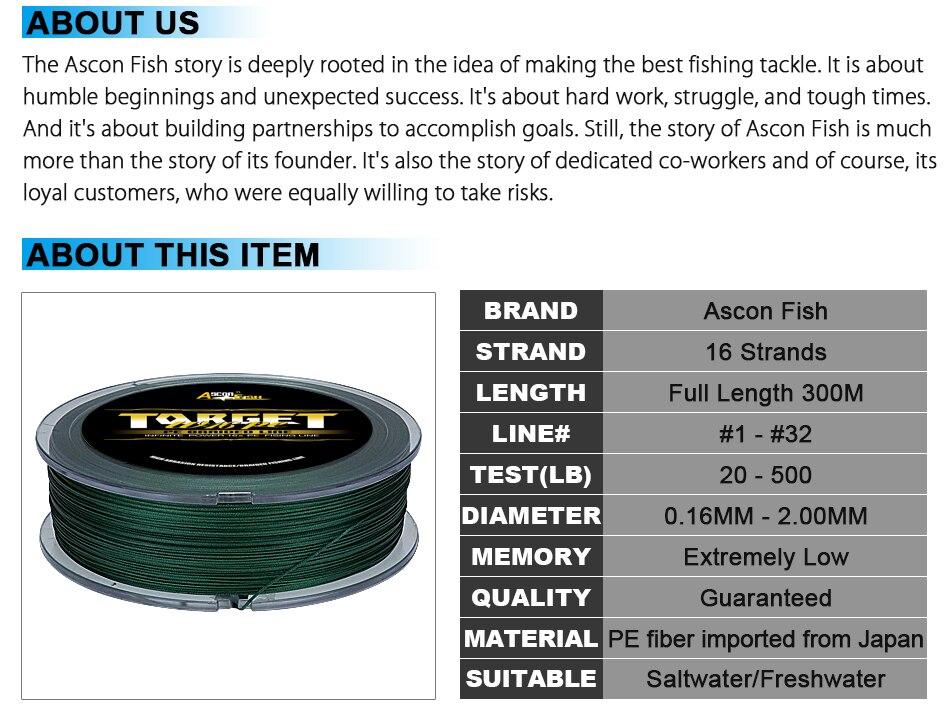 16 strands braided fishing line 300m multifilament fishing line (3)