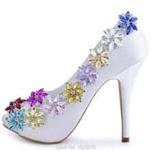 ElegantPark AJ Fashion Wedding Party Pumps Rhinestone Crystal Girls  Mother Lover Gift  Shoes Decoration Shoe Clips 2 Pcs