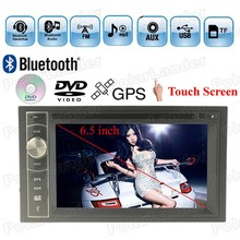 AM FM Touch Screen Bluetooth Auxin 7 languages 6.5 Inch 2 DIN Car DVD Player MP4 MP5 TF USB Radio GPS steering wheel control