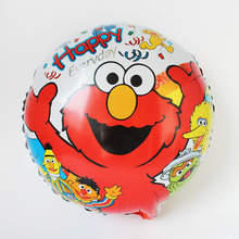 10pcs/lot 18'' Sesame Street foil balloon Cookie Monster Elmo Balloons Cartoon Kid's birtrhday Party Balloon Toys Gifts 45x45cm
