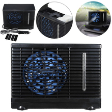 12V 3A Black Portable Car Cooler Fan Ice Water Evaporative Mini Air Conditioner for Car Cooler Cooling Fan(China)