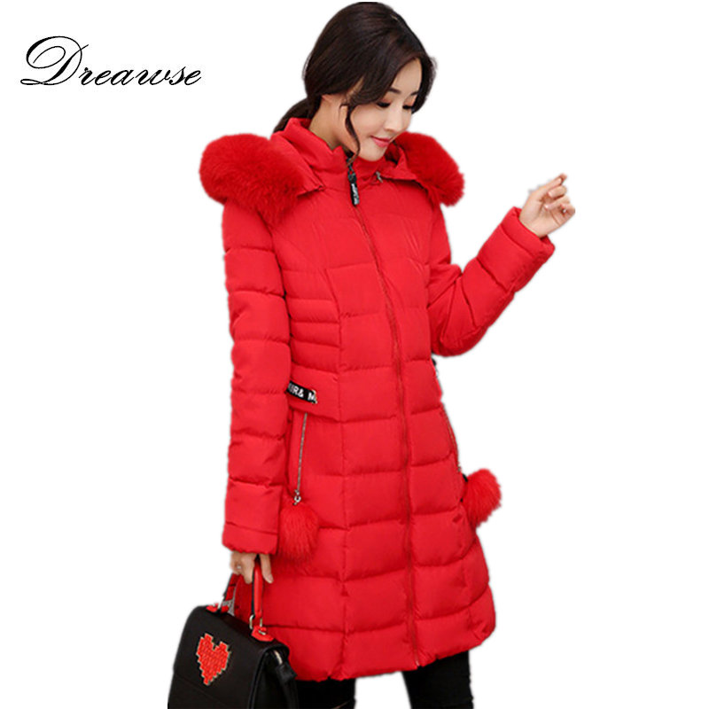 Dreawse Wadded Cotton Female Jackets Women Abrigos Winter Warm Jacket Slim Mujer Parkas Ladies Coat Plus Size M-5XL MZ1865Îäåæäà è àêñåññóàðû<br><br>
