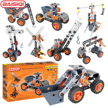 Buy 8 IN 1 intelligent Assembly tool set Truck Vehicle Crane Windmill model Creative science DIY toy kit pupil Birthday Gift for $26.46 in AliExpress store