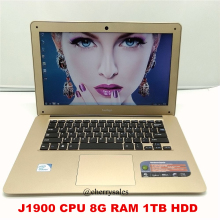 14 Inch 8GB RAM DDR3 1TB HDD Laptop Windows7/win8.1 In-tel Celeron J1900 Quad Core HDMI WIFI USB3.0 Notebook Computer