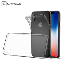 CAFELE Crystal silicon Transparent case for iPhone X cases Ultra Thin clean phone TPU cover for iPhone X cases back shell(China)