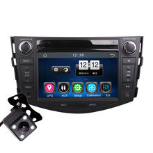 2Din Car In Dash DVD Player GPS Navi Radio Bluetooth Head Unit Stereos with Reverse Camera for Toyota RAV4 2007-2011