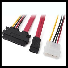 30CM 6Gb/s SATA 15pin to SATA 7pin +IDE Molex 4Pin Power / Data Combo Cable for PC SATA  SATA Hard Drive Disk,SSD