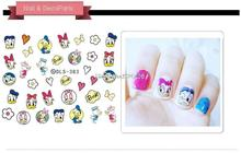 DLS383-391 DIY Water Transfer Foils Nail Art Sticker Fashion Nails Harajuku Duck Despicable Me Decals Minx Nail Decorations