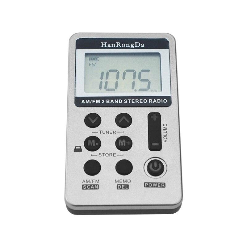 Mayitr 1pc Portable DC 5V Mini Pocket Two Band Radio FM/AM Digital Receiver With Earphone USB Cable