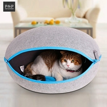 2017 New Arrival Dog Cats Toy Bed Cama Para Cachorro Soft Dog House Daily Products For Pets Cats Home Shape 3 Color Carrier Mats(China)