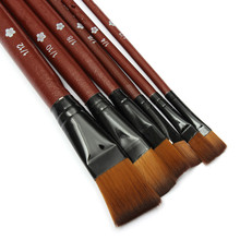 6pcs/lot Best Price Best Promotion Nylon Acrylic Watercolor Drawing Painting Brush Set Pen For Artist Student School Supplies