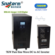 7KW/7000Watts Pure sine wave Solar PV Power Inverter dc to ac Converter 96/192/120/144VDC to 220AC 50HZ 10KVA UPS Power inverter