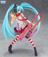 21cm Hatsune Miku Action figure Electric Guitar Racing Sexy Miku doll figures PVC Model toys for best collection gifts