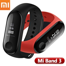 "2018 New Original Xiaomi Band 3 MiBand 3 Smart Bracelet Fitness Tracker 0.78"" OLED Touch Screen Bluetooth 4.2 Android IOS"